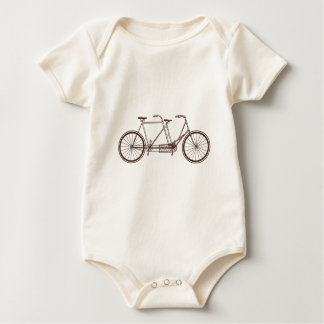 Vintage Bike for Two Baby Bodysuit