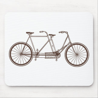 Vintage Bike for Two Mouse Pad