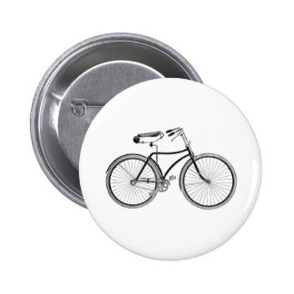 Vintage Bike Old Fashioned Bicycle Cycling Pinback Buttons