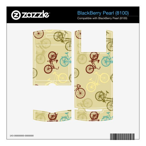 Vintage bike pattern BlackBerry pearl skin