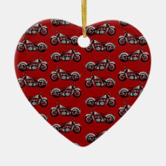 Vintage Bike Pattern Ceramic Ornament
