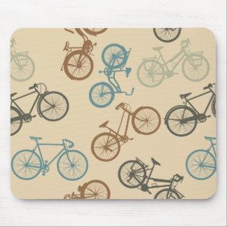 Vintage bike pattern mouse pad