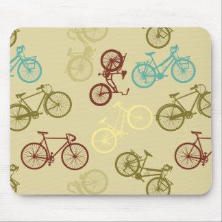 Vintage bike pattern mousepads