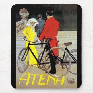 Vintage Bike Poster Mouse Pad