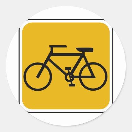 Vintage Bike Road Sign Stickers