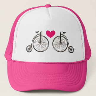 Vintage bike sweetheart pink hat