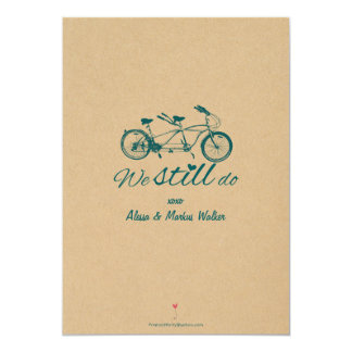 """Vintage Bike Vow Renewal Invitation """"We Still Do"""""""
