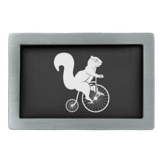 Vintage Bike with Squirrel Rider Belt Buckle