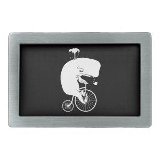 Vintage Bike with Whale Rider Rectangular Belt Buckle