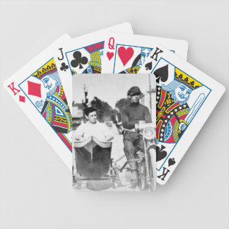 Vintage Biker Outlaw Motorcycle and Sidecar Bicycle Playing Cards