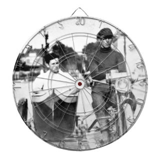 Vintage Biker Outlaw Motorcycle and Sidecar Dart Board
