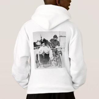 Vintage Biker Outlaw Motorcycle and Sidecar Hoodie