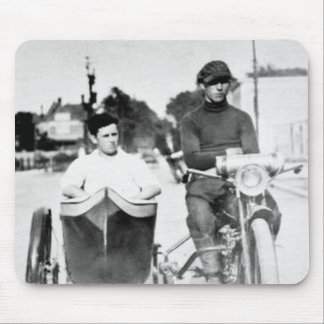 Vintage Biker Outlaw Motorcycle and Sidecar Mouse Pad