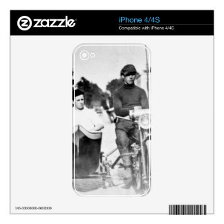 Vintage Biker Outlaw Motorcycle and Sidecar Skins For The iPhone 4