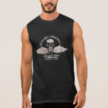 Vintage Biker Skull and Wings Emblem Sleeveless T-shirts