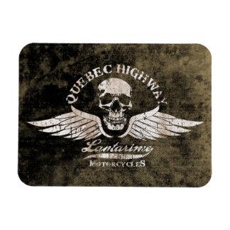 Vintage Biker Skull with Wings Motorcycle Magnet