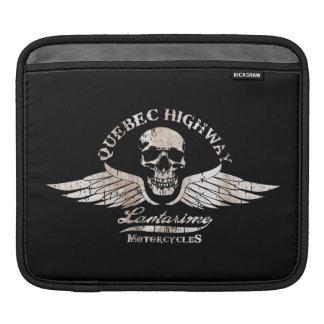 Vintage Biker Skull with Wings Motorcycle Sleeve For iPads