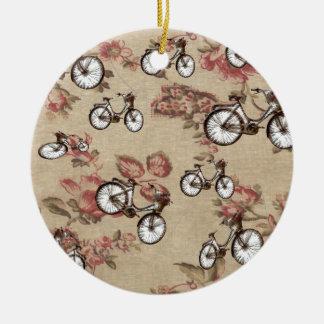 Vintage bikes ceramic ornament