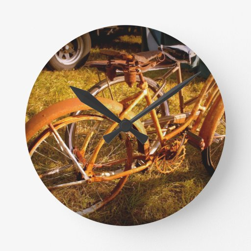 Vintage Bikes Wall Clock