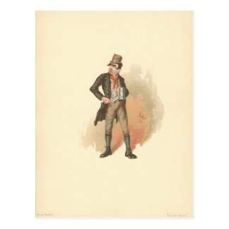 Vintage Bill Sikes Oliver Twist Postcard