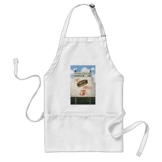 Vintage Billboard, Worlds Largest Drive In Hotdogs Adult Apron