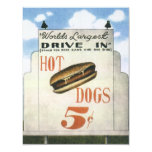 Vintage Billboard, Worlds Largest Drive In Hotdogs Personalized Invitations