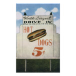 Vintage Billboard, Worlds Largest Drive In Hotdogs Posters