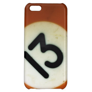 Vintage billiard ball 13 cover for iPhone 5C