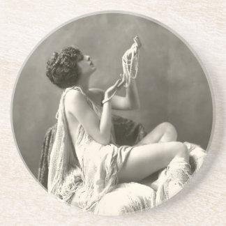 Vintage Billie Dove Photograph Drink Coaster