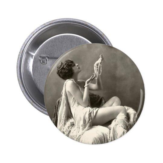 Vintage Billie Dove Photograph Pinback Button
