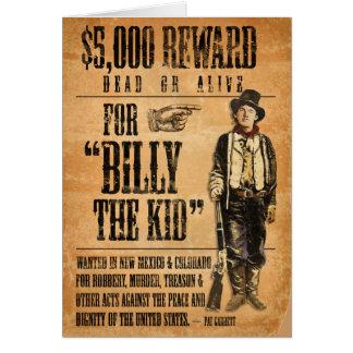 Vintage Billy el niño Tarjeta