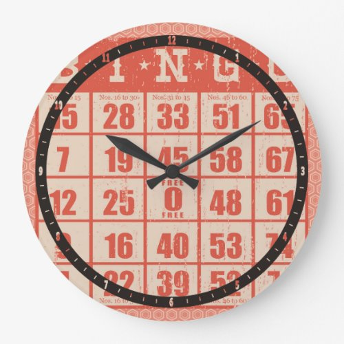 vintage bingo card game room large clock