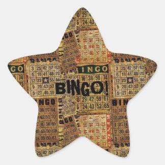 Vintage Bingo Cards collage -Sticker