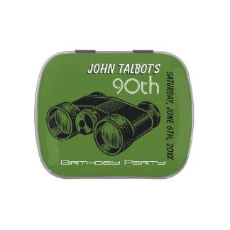 Vintage Binoculars 90th Birthday Thank You Candy Candy Tin