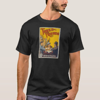 Vintage Biograph Studios Three Friends Movie T-Shirt
