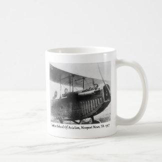 Vintage Biplane Airplane And Pilots Mug