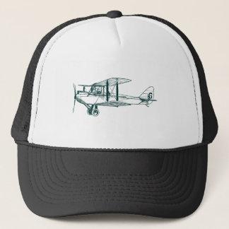 Vintage Biplane - Dark Green Trucker Hat
