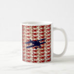 Vintage Biplane on Barn Wood Aviation Gifts Coffee Mug