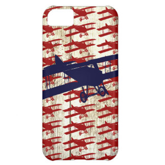 Vintage Biplane on Barn Wood Aviation Gifts Cover For iPhone 5C