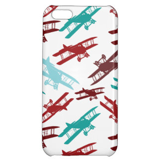 Vintage Biplane Pattern Airplane Aviator Gifts Cover For iPhone 5C