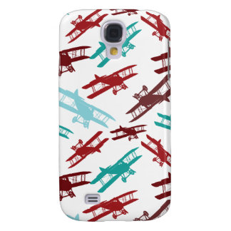 Vintage Biplane Pattern Airplane Aviator Gifts Galaxy S4 Case