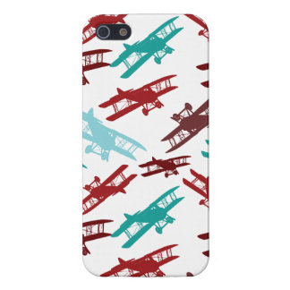 Vintage Biplane Pattern Airplane Aviator Gifts iPhone SE/5/5s Cover