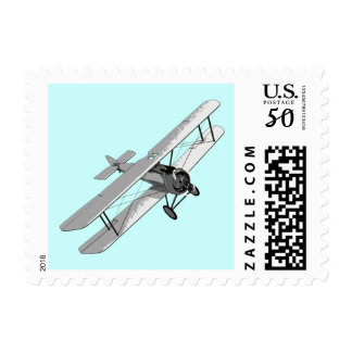 Vintage Biplane Postage