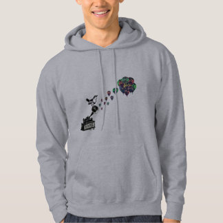 Vintage Bird and Balloons Hooded Pullover