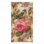 Vintage Bird and Pink Roses Posters