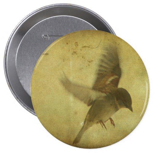 Vintage Bird Art Pin