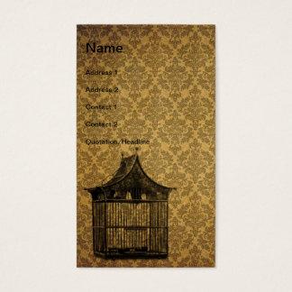 Vintage Bird Cage 3 Business Card