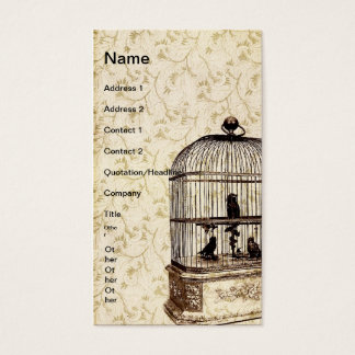 Vintage Bird Cage Business Card
