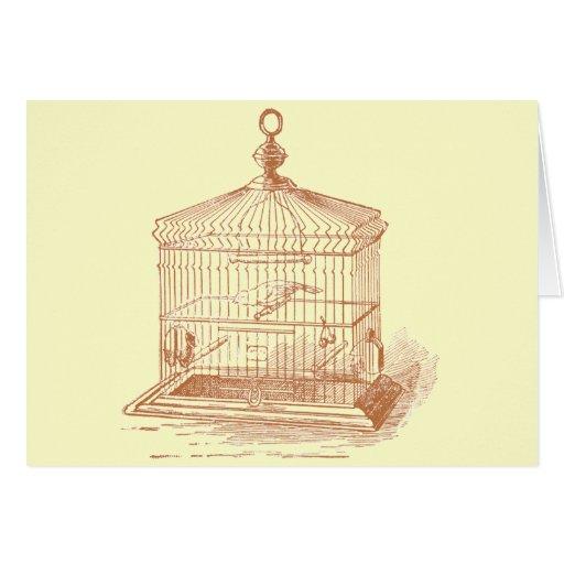 Vintage Bird Cage Cards