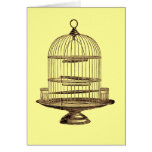 Vintage Bird Cage Greeting Card